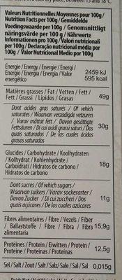 Chocolat Noir 90% - Nutrition facts