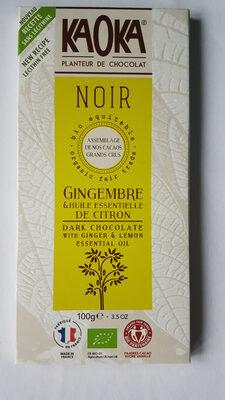 Chocolat Noir Citron Gingembre - Prodotto - fr