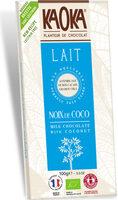 Chocolat au Lait et à la Noix de Coco Bio - Product - fr