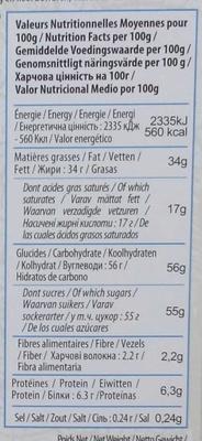 Chocolat au Lait et à la Noix de Coco Bio - Voedingswaarden - fr