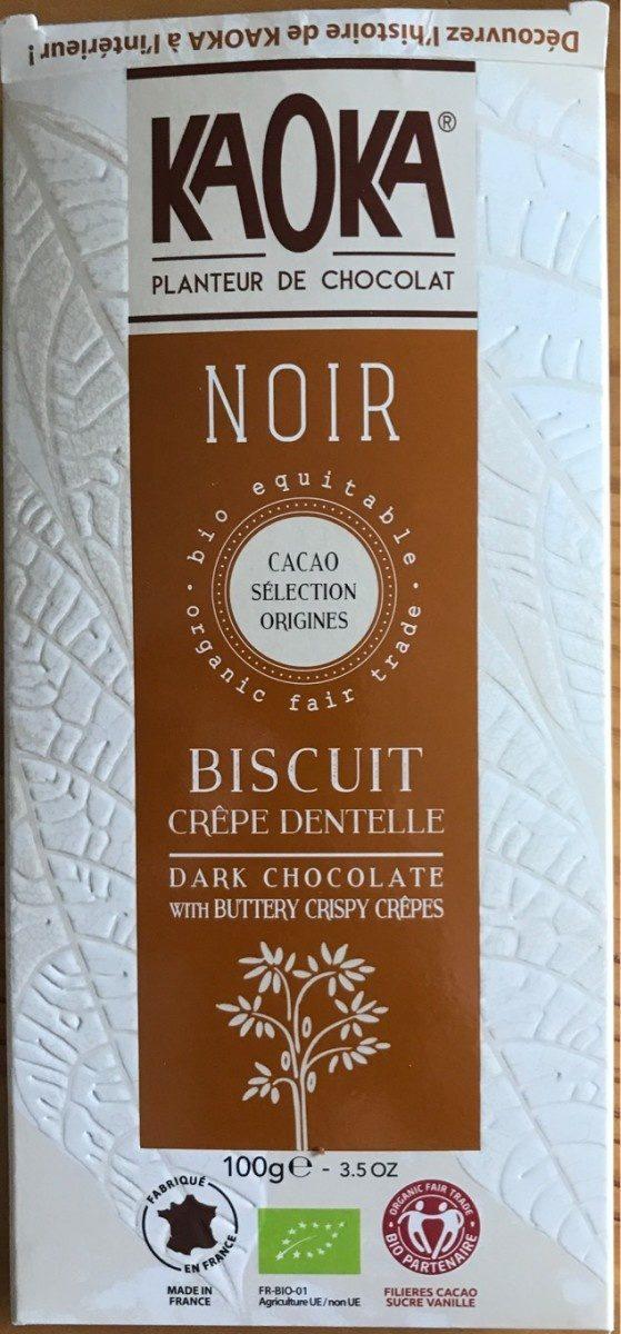 Noir biscuit crêpe dentelle - Product