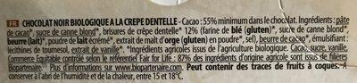Noir biscuit crêpe dentelle - Ingrediënten