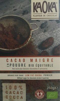 Cacao maigre en poudre - Produit - fr
