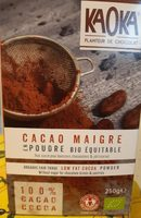 Cacao maigre en poudre - Ingredients