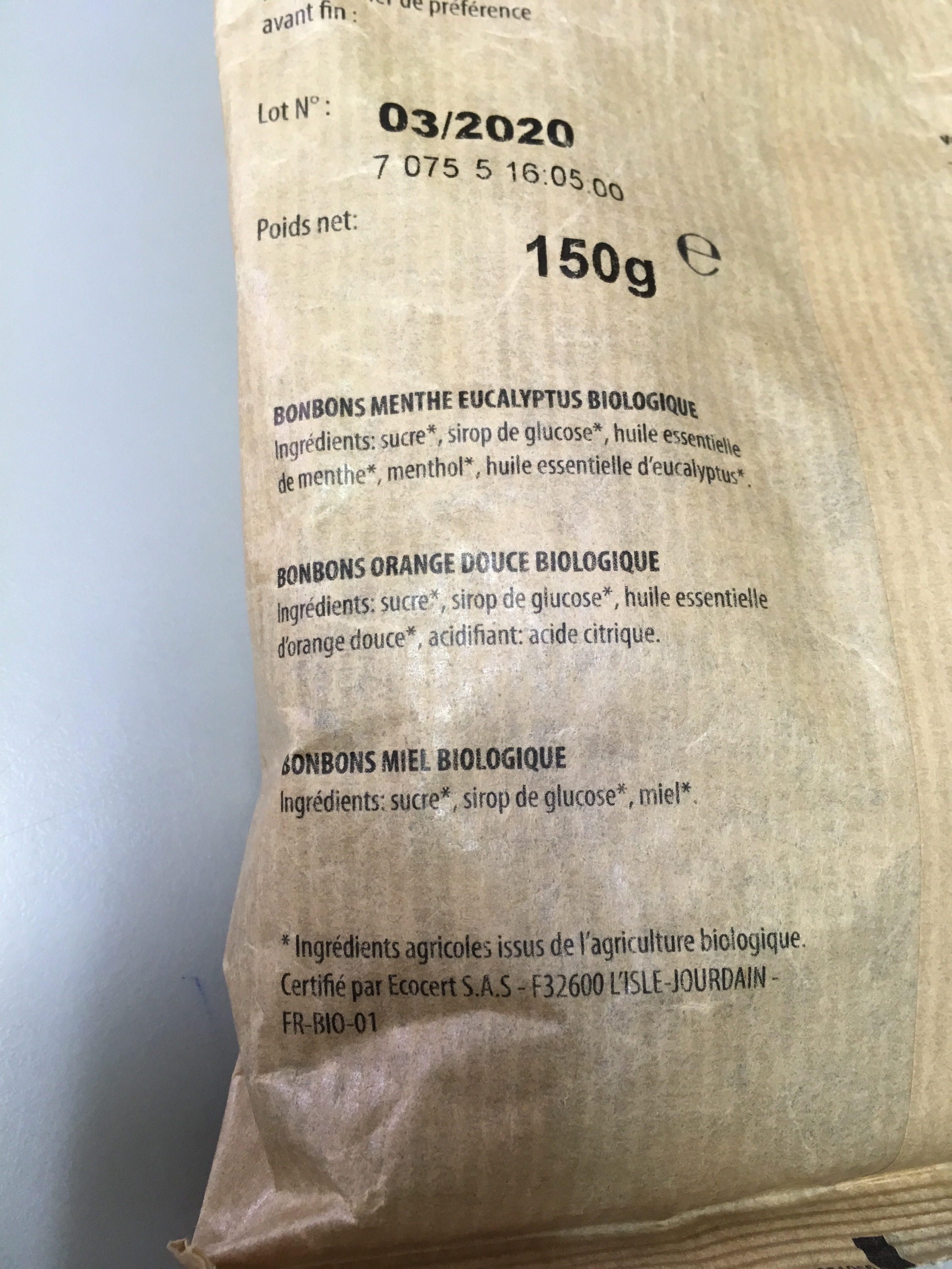 Kaoka - Bonbons Menthe Et Eucalyptus - Ingrédients - fr