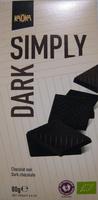 Chocolat noir bio simply dark - Product