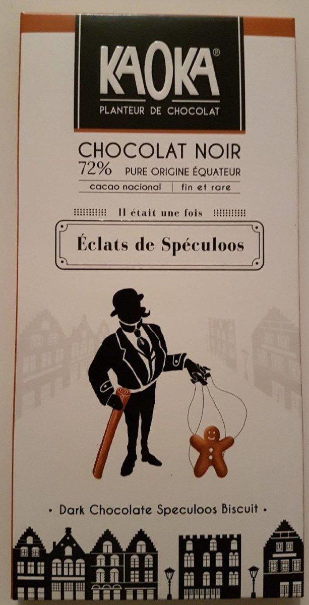Chcolat noir 72% éclats de speculoos - Product