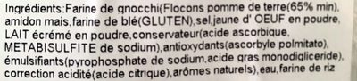 Gnocci Pomme de terre - Ingredienti - fr
