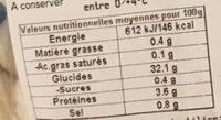 Gnocci Pomme de terre - Valori nutrizionali - fr