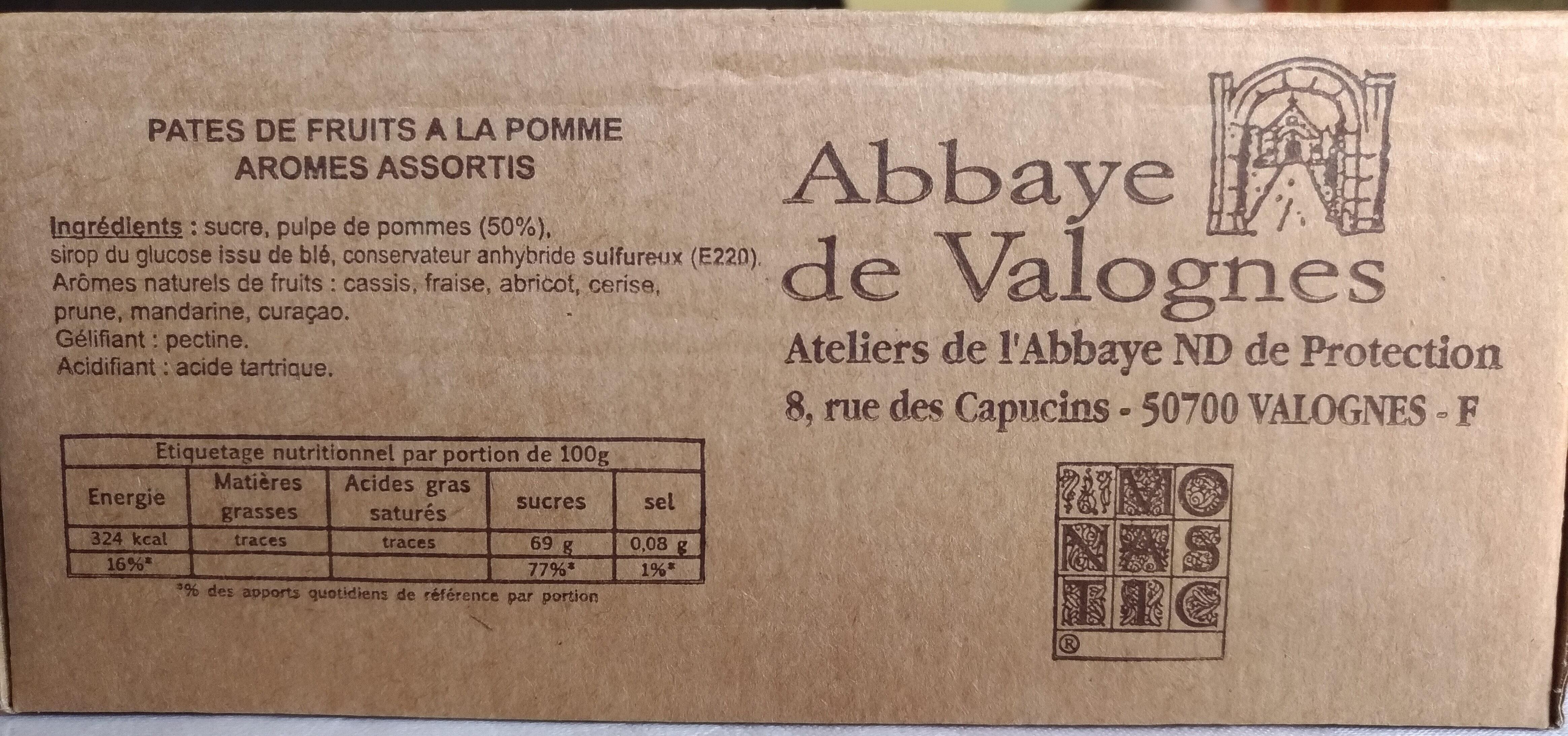 Pâtes de fruits de l'abbaye de valognes - Product - fr