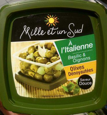 Olives à l'italienne, basilic & oignons doux - Product - fr