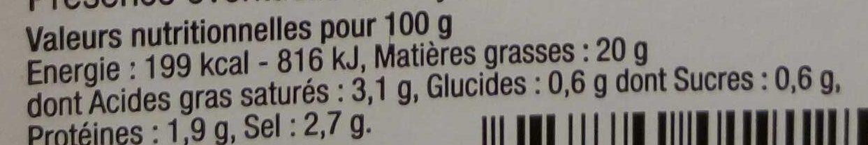 Olives dénoyautées à la méridionale - Voedingswaarden - fr