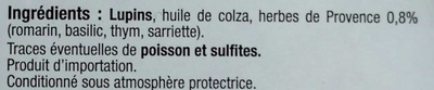 Lupin aux herbes de Provence - Ingrédients