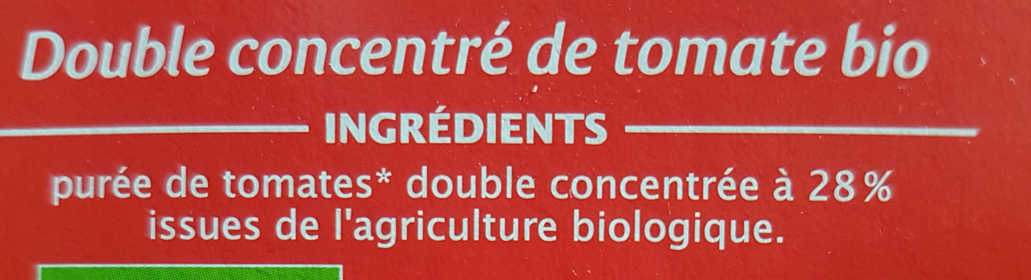 Double concentré de tomate Bio (28%) (Voir 2000000002768) - Ingrédients - fr