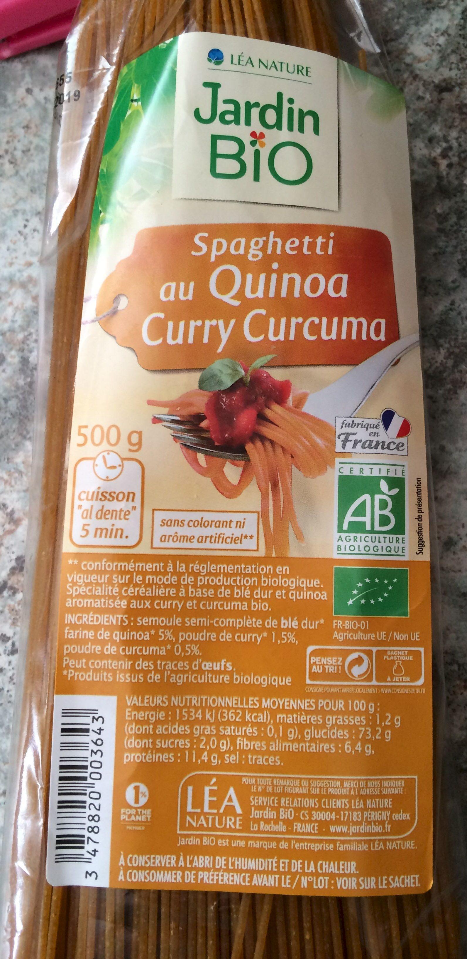 Spaghetti au quinoa curry curcuma Jardin Bio 500 g