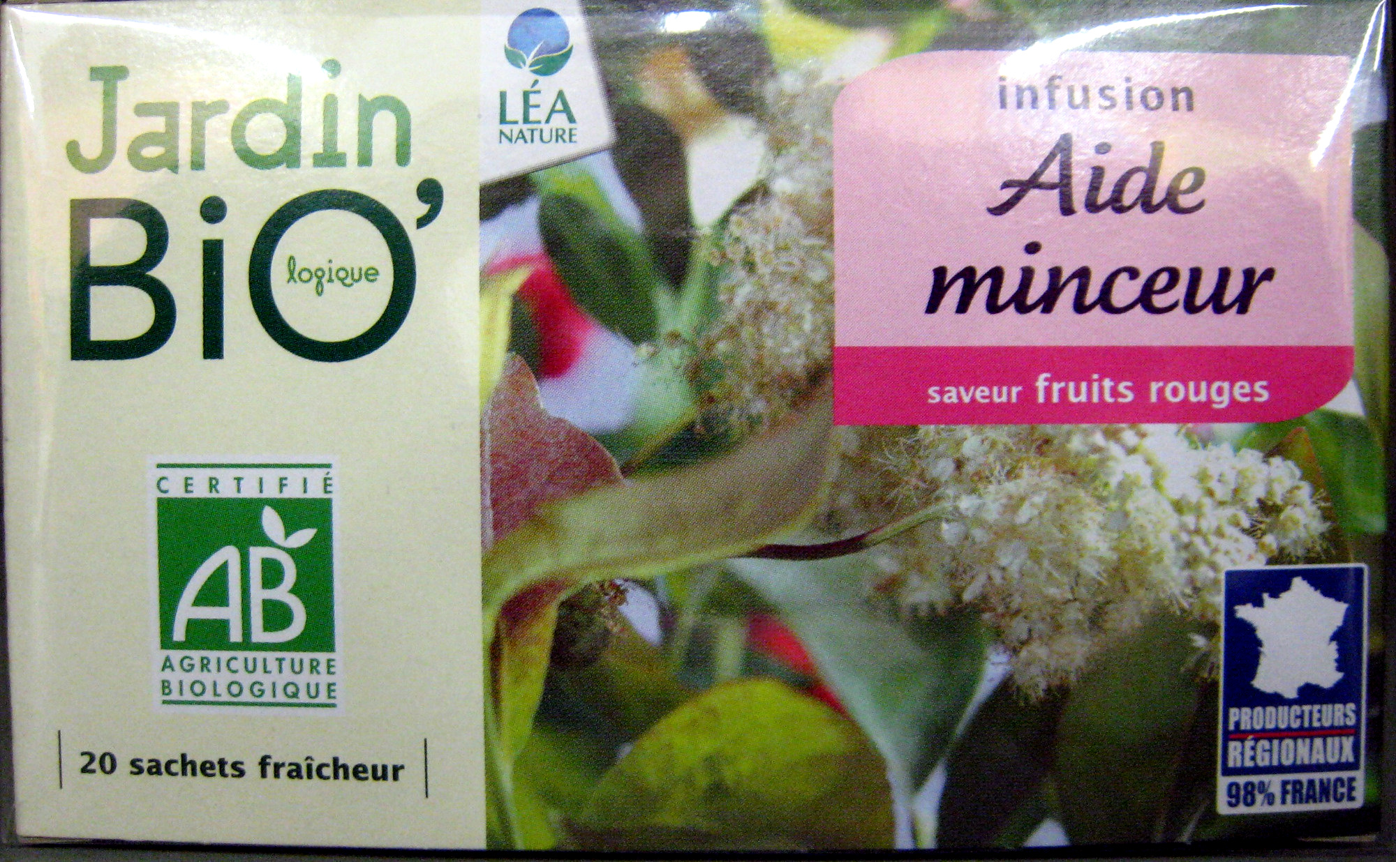 Infusion Aide minceur saveur fruits rouges Jardin Bio 30 g 20