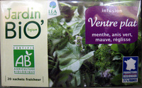 Infusion Ventre plat Jardin Bio - Produit
