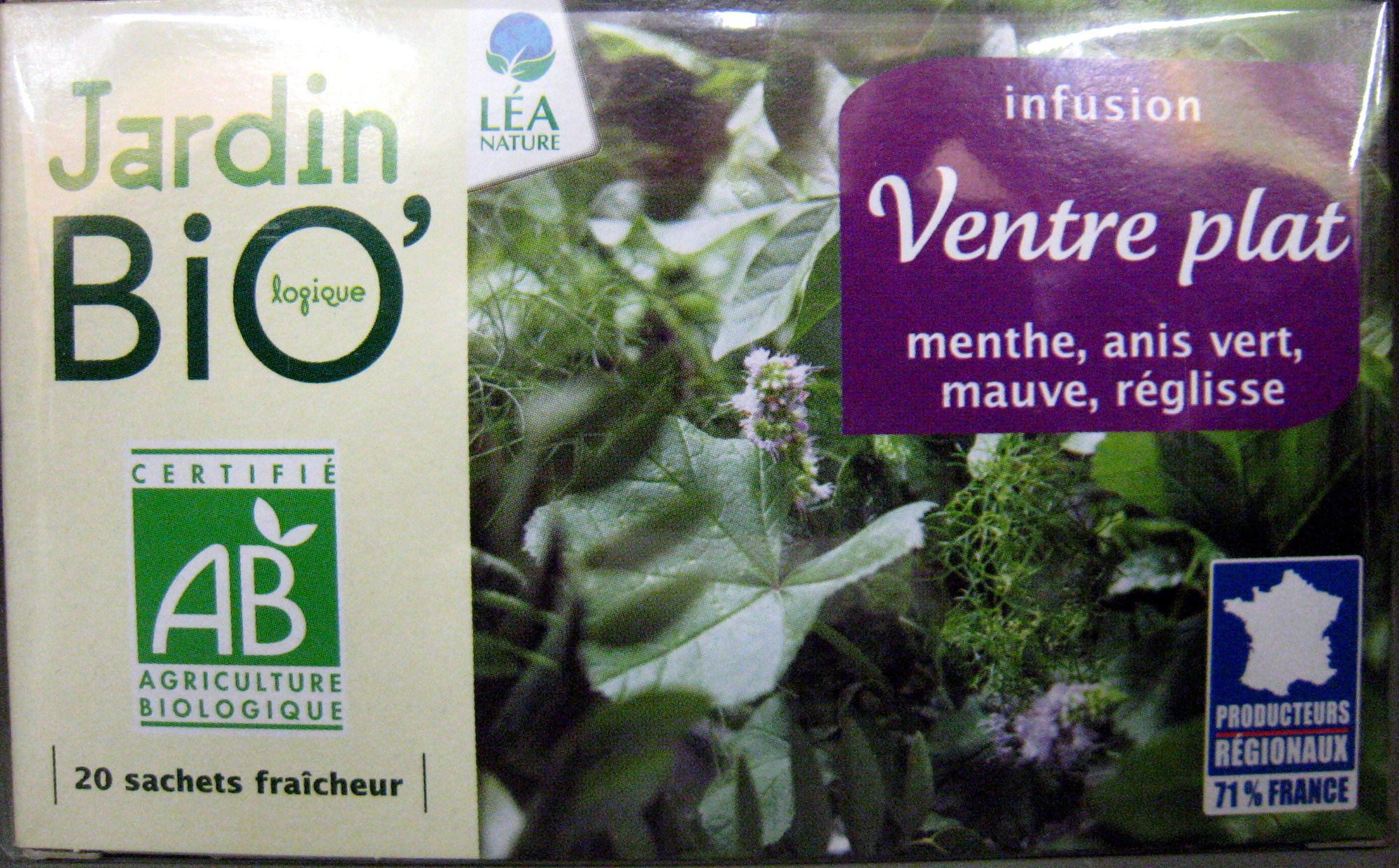 infusion ventre plat jardin bio product - Jardin Bio
