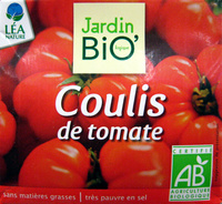 Coulis de tomate Bio 500 g - Jardin BIO' - Produit