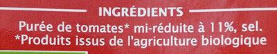 Coulis de tomate Bio 500 g - Jardin BIO' - Ingrédients - fr
