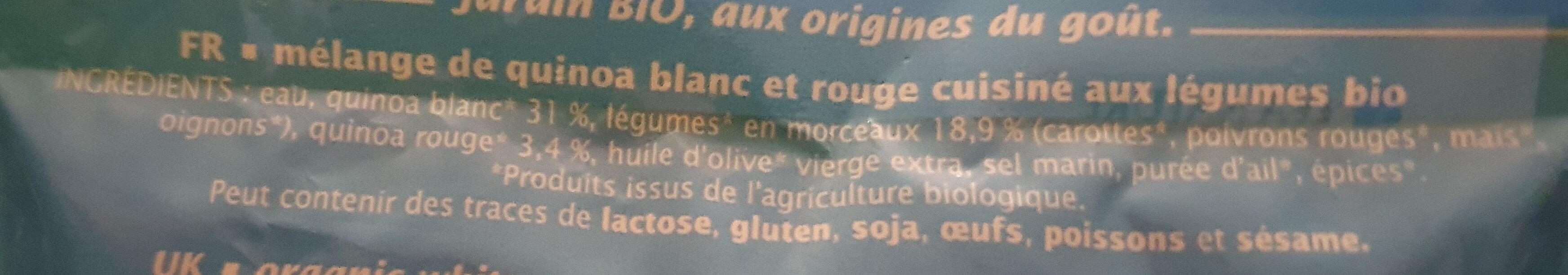 DUO DE QUINOA AUX LEGUMES - Ingrediënten - fr
