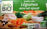 Bouillon cube Légumes sans sel ajouté aromates Jardin Bio - Product