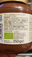 Pâte à tartiner au chocolat et aux noisettes bio - Inhaltsstoffe - fr