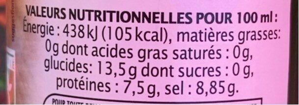Sauce Soja - Informations nutritionnelles - fr