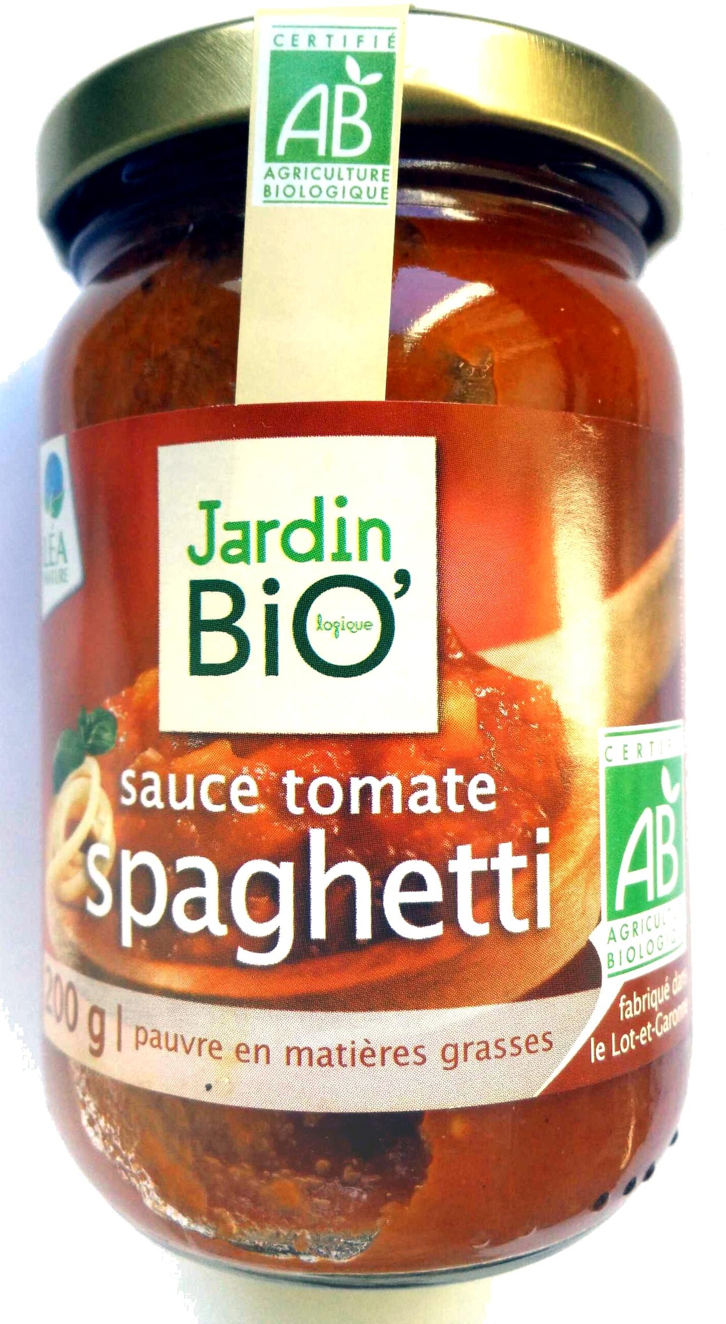 Sauce tomate spaghetti jardin bio 200 g for Jardin bio