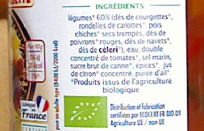 Légumes pour couscous et plats orientaux - Ingrediënten