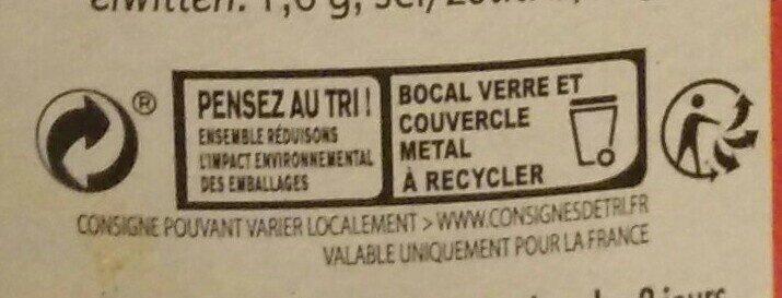 Légumes pour couscous et plats orientaux - Instruction de recyclage et/ou informations d'emballage - fr