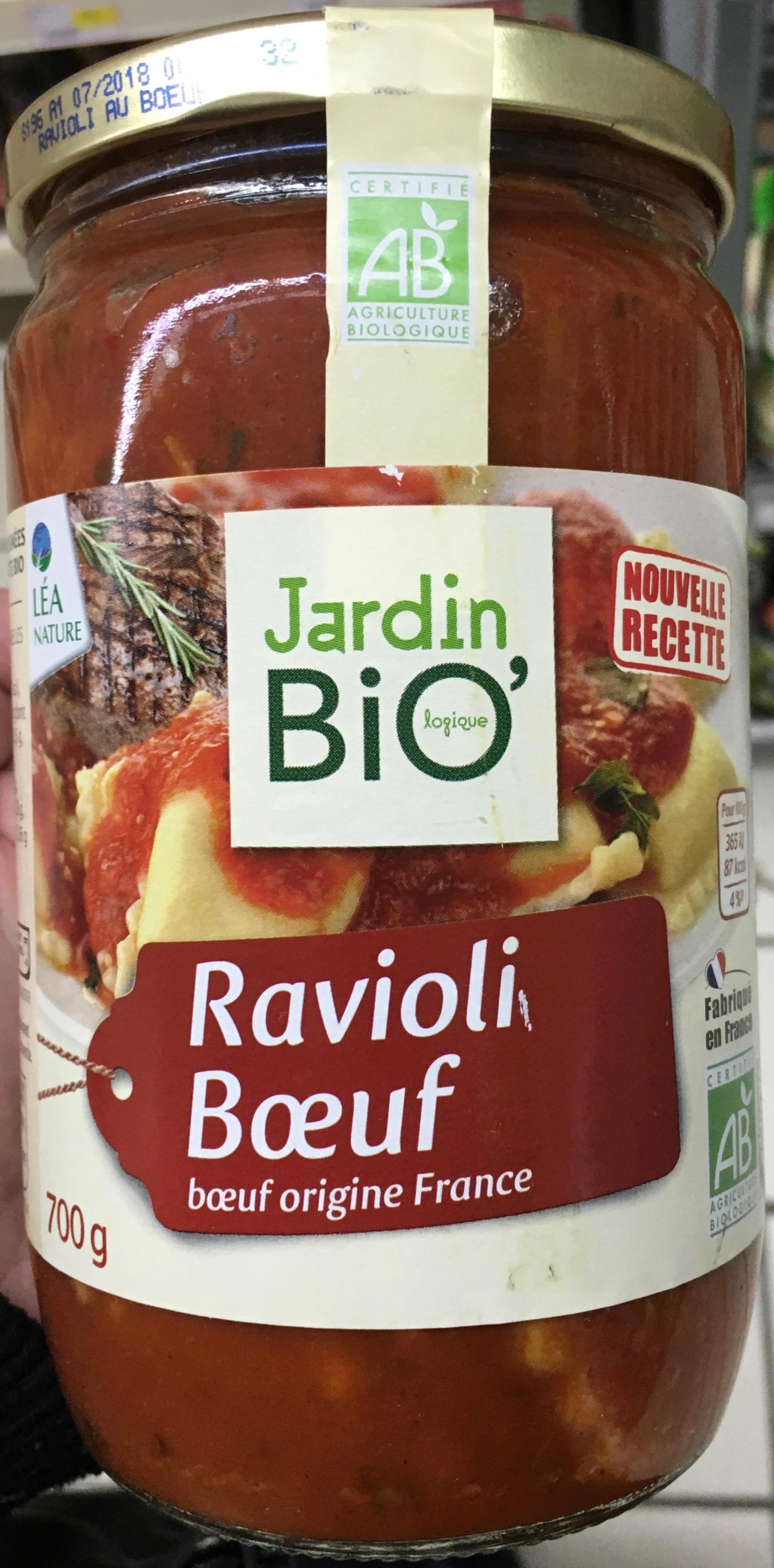 Ravioli b uf bio jardin bio 700 g for Jardin bio