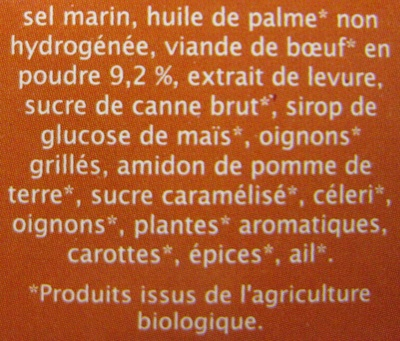 Bouillon cube Boeuf aromates Jardin Bio - Ingredients