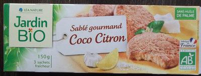 Sablés coco citron - Produit - fr