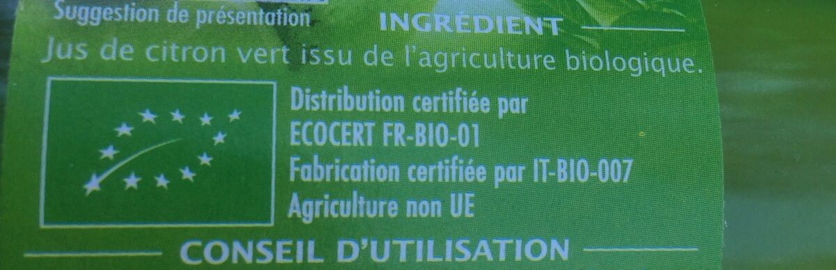 Pur jus citron vert - Ingrediënten - fr