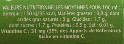 Pur jus citron vert - Voedingswaarden - fr