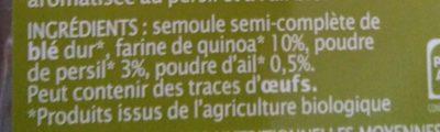 Spaghetti quinoa - Ingredients - fr