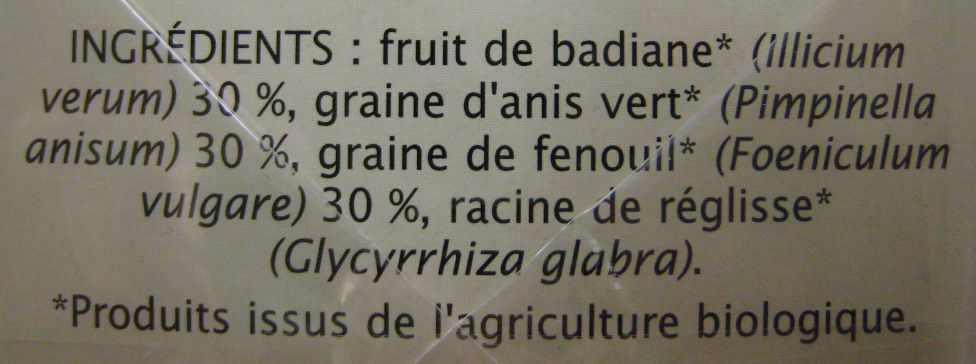 Infusion Digestion légère Jardin Bio - Ingrediënten