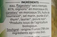 Flageolets cuisinés - Ingrédients - fr