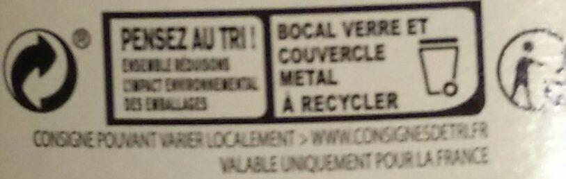 Flageolets cuisinés - Instruction de recyclage et/ou informations d'emballage - fr