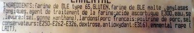 Fougasse lardons emmental - Ingrédients