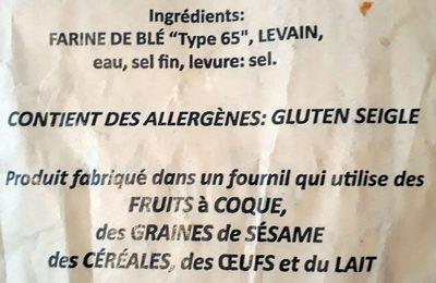 Pain Leclerc - Ingredients - fr