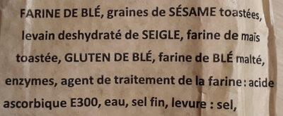 Baguette clef des champs - Ingredients