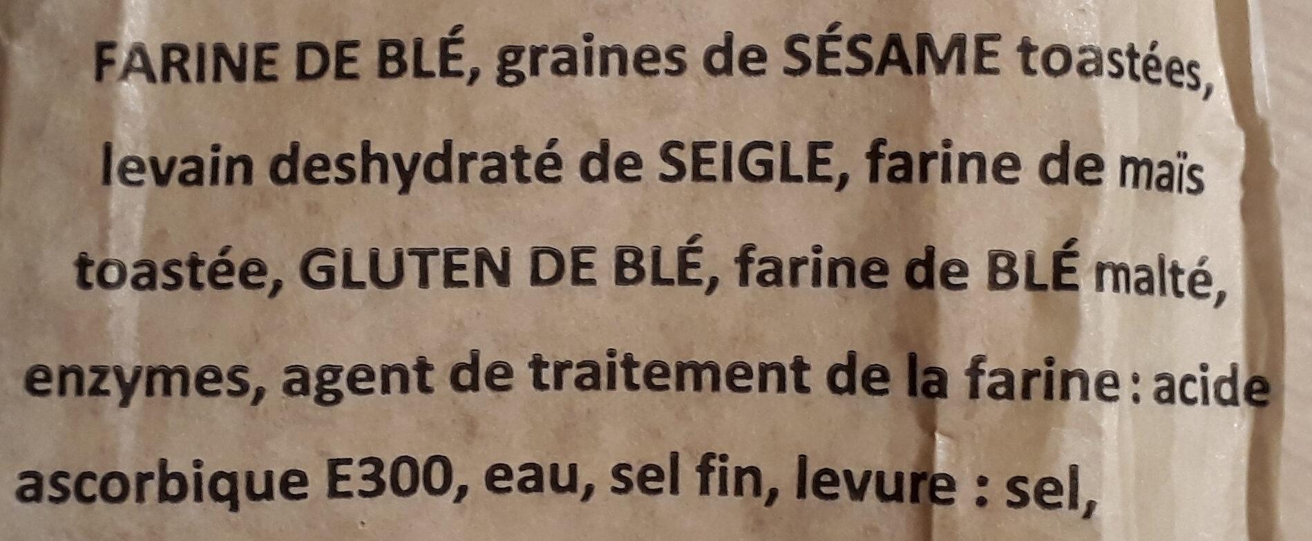 Baguette clef des champs - Ingrédients