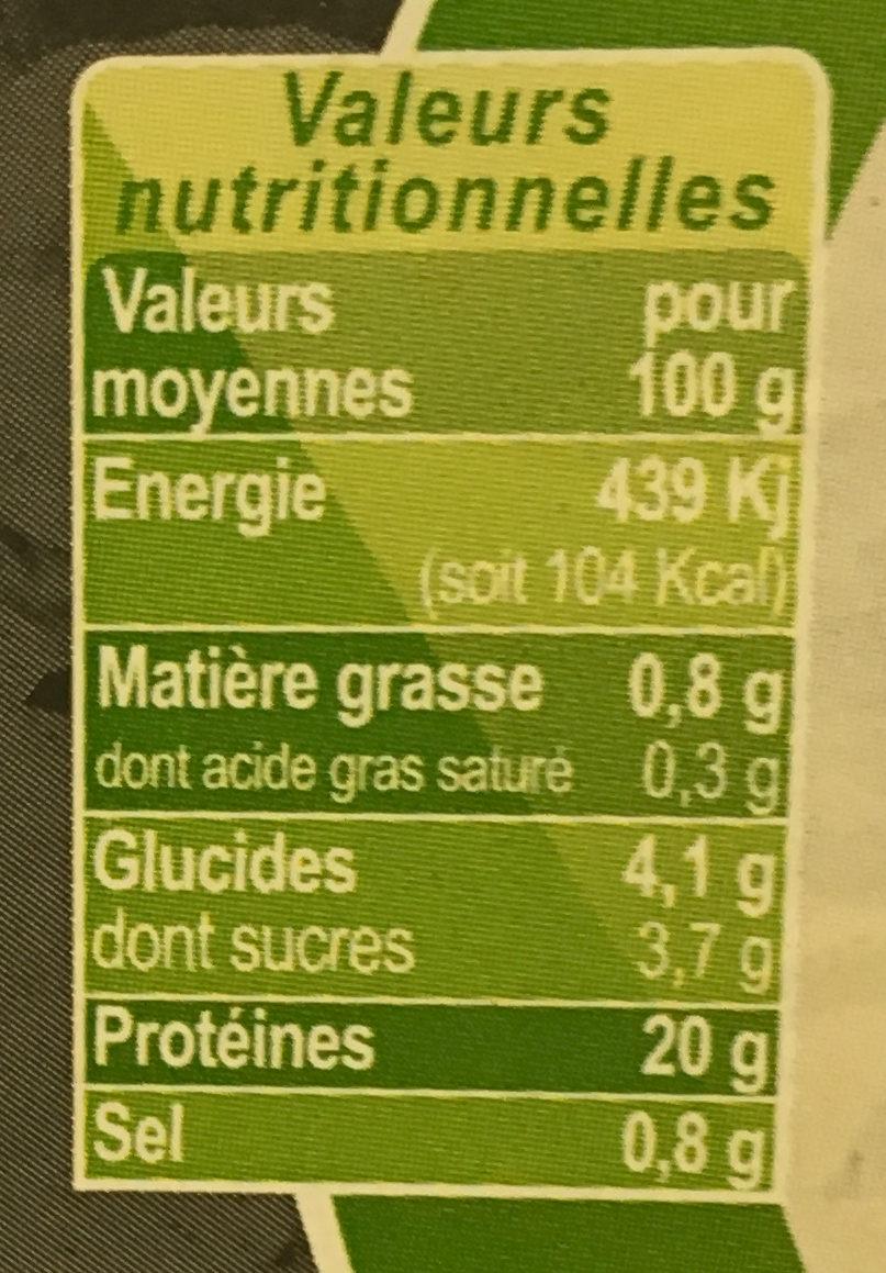 Bulots sauvages cuits pasteurisés - Nutrition facts - fr