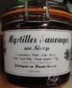 Myrtilles sauvages au sirop - Produit