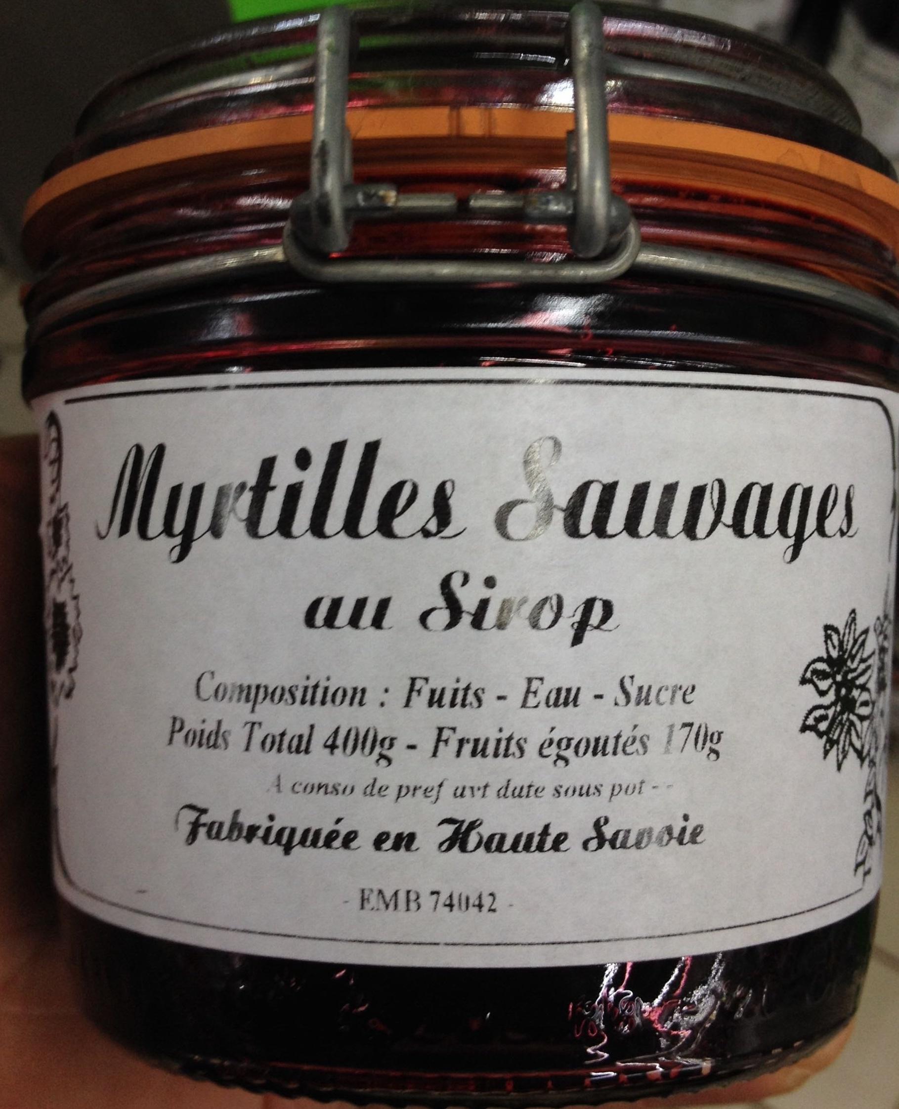 Myrtilles sauvages au sirop confiture du pays poids total 400 g fruits goutt s 170 g - Confiture de nefles du japon ...
