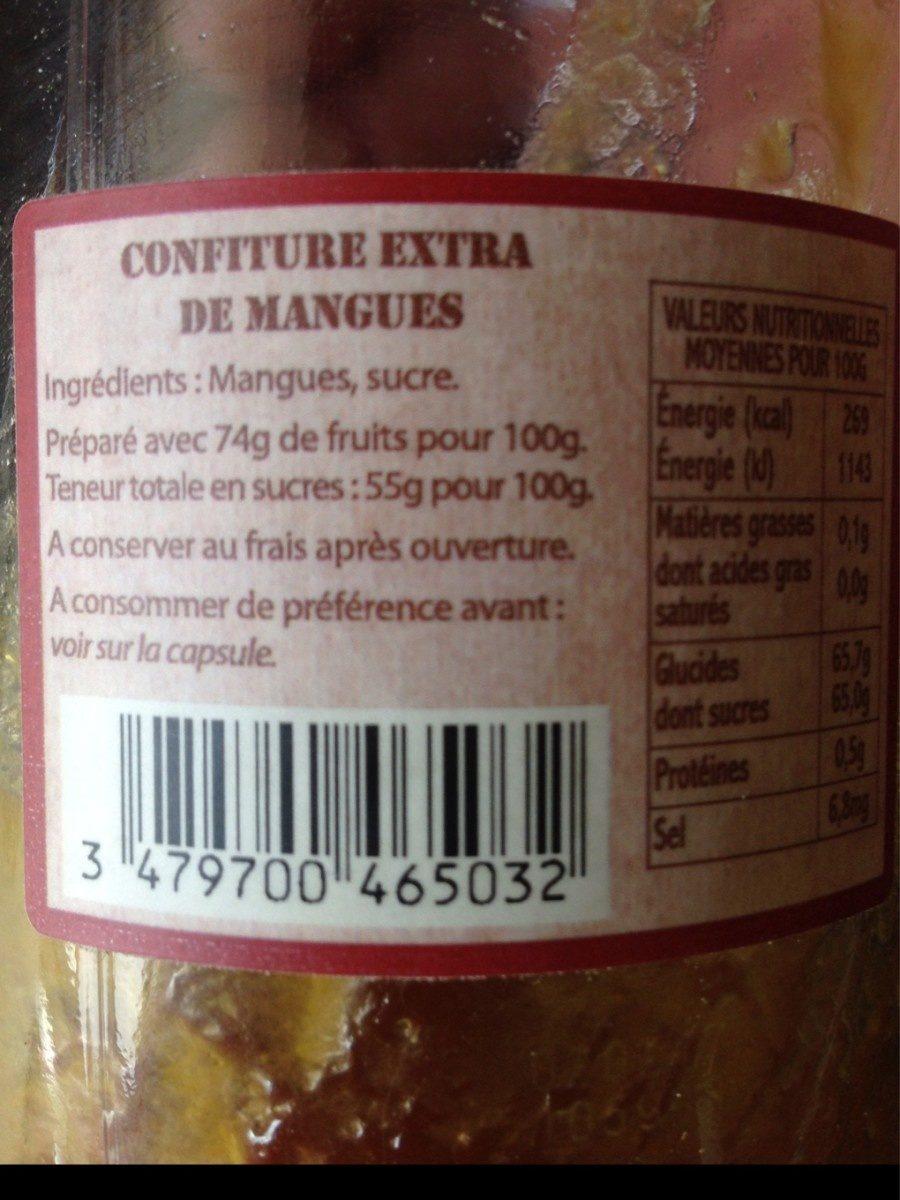 Mangue - Ingrédients - fr