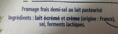 Carré Frais - Ingredients - fr