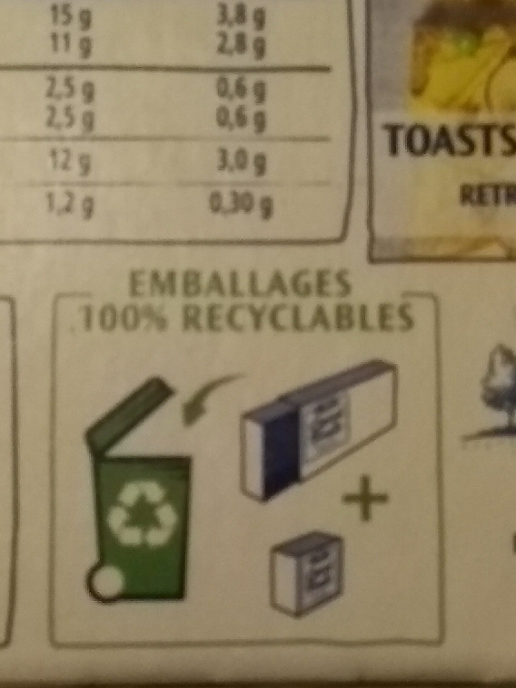 Carré Frais - Recycling instructions and/or packaging information - fr